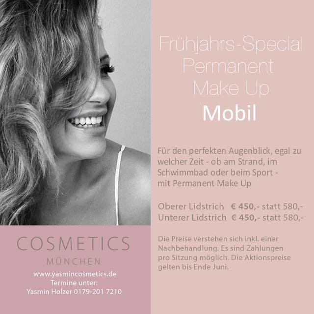 Frühjahrs Special Permanent Make Up 2017 Yasmin Cosmetics München
